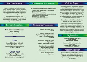 2018 OAU SCIENCE CONFERENCE BACK PAGE